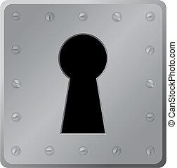 Vector illustration - keyhole on white background
