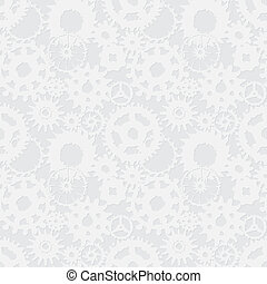 Curves abstract gears - vector seamless texture