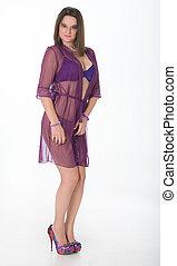 She is pretty in purple