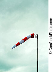 Windsock on a cloudy winter day