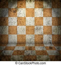Grunge chess room