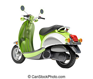 Scooter close up