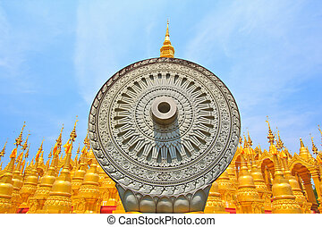 Pagoda and stupa in thailand