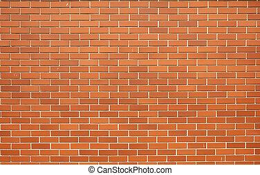 現代, 紅色, 磚, 牆