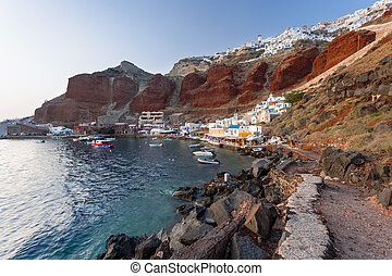 Ammoudi Bay Oia Santorini - Eveing light at Ammoudi Bay Oia...