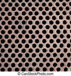 Rusty metal floor
