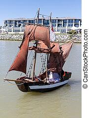 cute little pirate ship - a cute little pirate ship