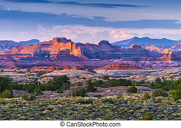 Sunrise in Needles District - View of the Magnificent Sunset...