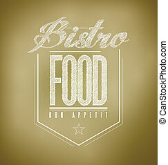 brown Bistro Poster sign text banner illustration design