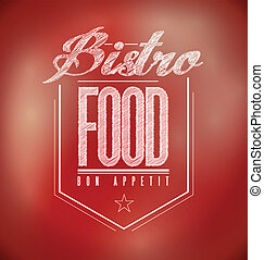 red Bistro Poster sign text banner