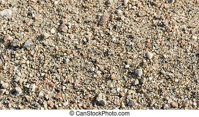 Stony ground on coast of lake