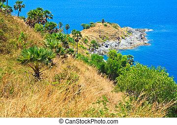View of a Promthep cape. Phuket island, Thailand