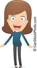 Girl manager, suitable for use in dialogues with other...