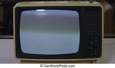 Vintage Tv - Watching vintage television close-up