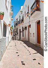 Spanish Street - A quiet cobbled street in a small Spanish...