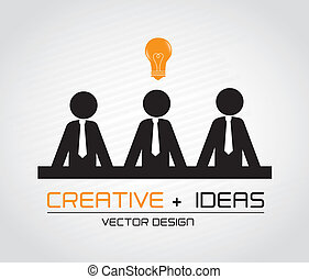 creative ideas over gray background vector illustration