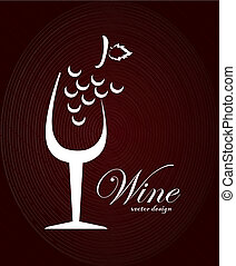 wine design over brown background vector illustration