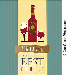 wine menu over blue background vector illustration