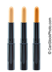 Closeup photo of a concealer sticks - Closeup photo of a...