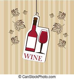 wine design over grunge background vector illustration