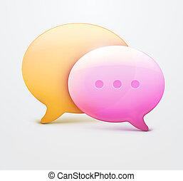 Speech bubble web icons - illustration of two speech bubble...