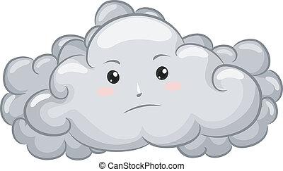 Gloomy Dark Cloud Mascot