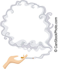 Cigarette with Smoke Frame Background - Background...