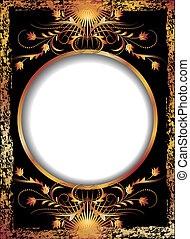 Black background with  luxurious ornament