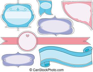Blank Store Product Labels - Illustration of Blank Store...