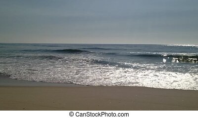 Sea waves - Ocean Waves and Beach: The waves from the sea of...