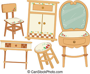 Country Furnitures - Illustration of Country Furniture...