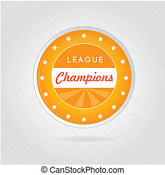 champions league over gray background vector illustration