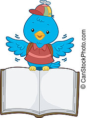 Bird with Open Book