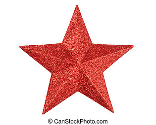 Red Star - Macro of red star isolated on white background