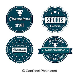 sports seals over white background vector illustration