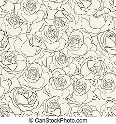Rose seamless background.