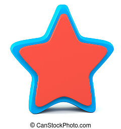 Blue red star