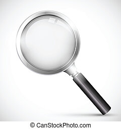 Magnifying Glass - illustration of magnifying glass on white...