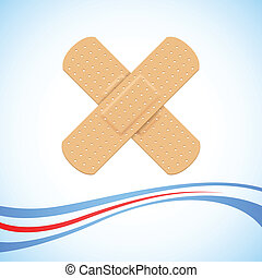 Medical Bandage Cross - illustration of medical bandage...
