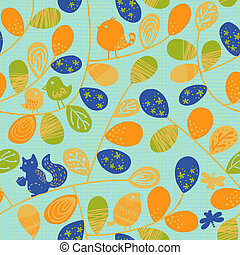 Vivid repeating map - For easy making seamless pattern use...