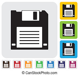 floppy disk for saving data iconsymbol- simple vector...