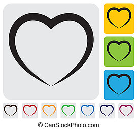 abstract human heart(love) icon(symbol)- simple vector...