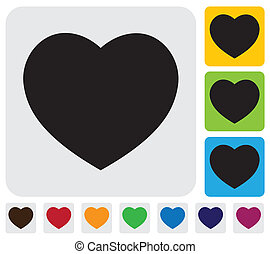 human heart icon(symbol) for love- simple vector graphic
