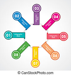 creative arrow info-graphic stock vector