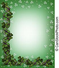 St Patricks Day Shamrocks Border
