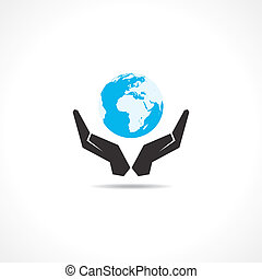 save earth concept stock vector