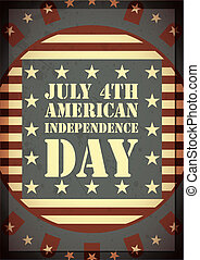 Independence Day of America - greeting card