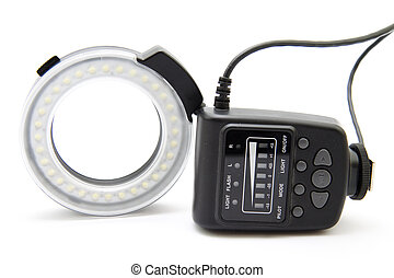 Ring flash   - Ring flash with battery compartment