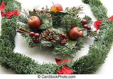 Christmas flower arrangement - Christmas flower arrangement...