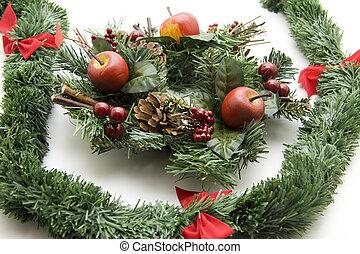 Christmas flower arrangement - Christmas flower arrangement...